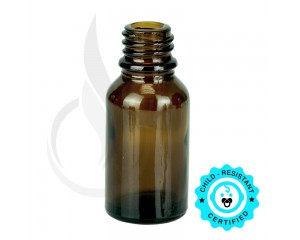 15ml Amber Euro Bottle 18-415