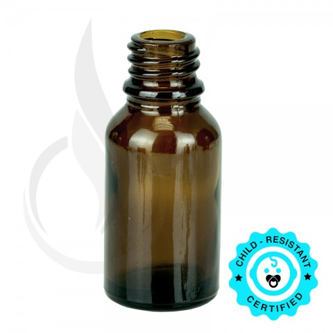 image for 15ml Amber Euro Bottle 18-415