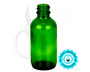 2oz Green Glass Bottle 20-400