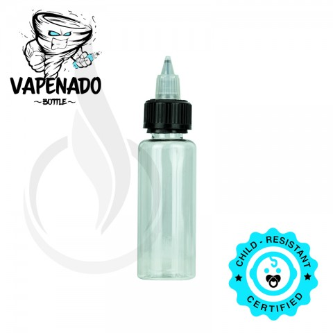 image for VAPENADO 60ml Bottle with Black/Clear Cap